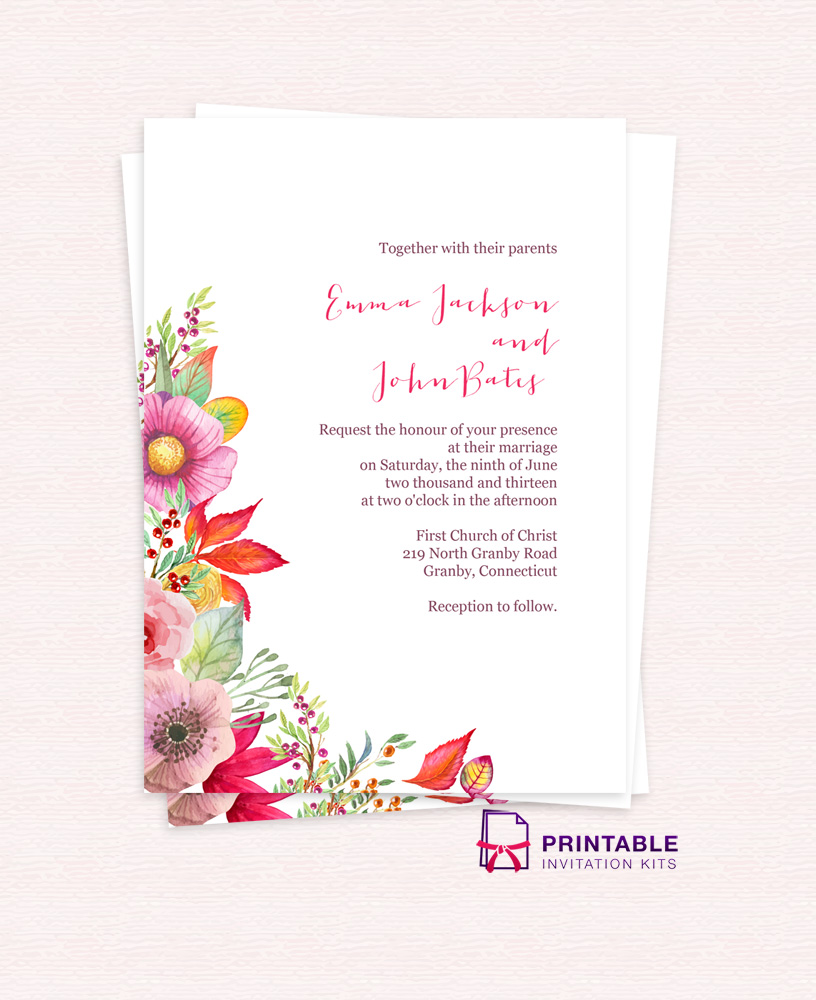 8 Amazing Free Wedding Invitation Templates | WA Weddings