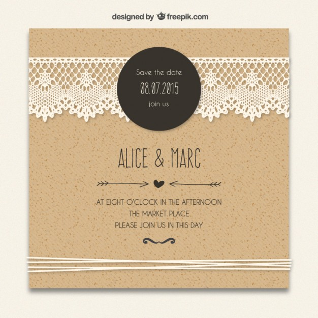 8 amazing free wedding invitation templates wa weddings cardboard wedding invitation with lacy decoration stopboris Images