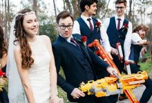 Power Tools & Super Soakers at Vaughan and Emily's Darlington Estate Wedding