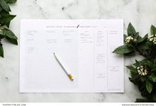 Download a Printable, Minimalist Meal Planner