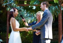 Joanne & Stephen's intimate ceremony in the Sunken Gardens amphitheater