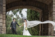 Chris & Catherine's timeless and classic Perth wedding