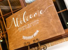 Nothing can welcome your guests quite like one of these handpainted signs