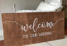 Online Wedding Sign Auction from Chalk of the Town for November 24